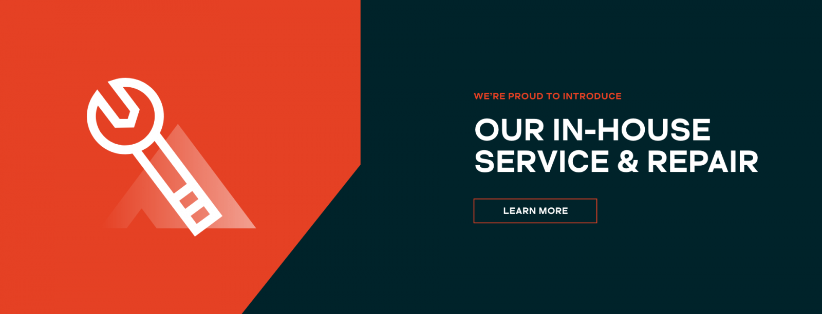we're proud to introduce our in-house service & repair