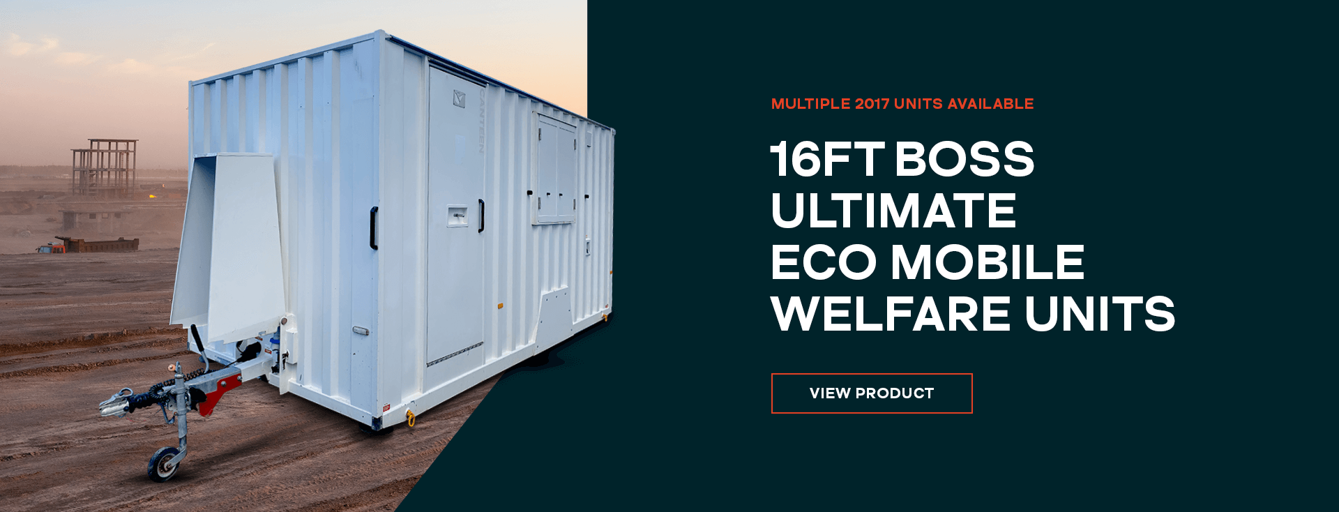 16ft Boss Ultimate Eco Mobile Welfare Units